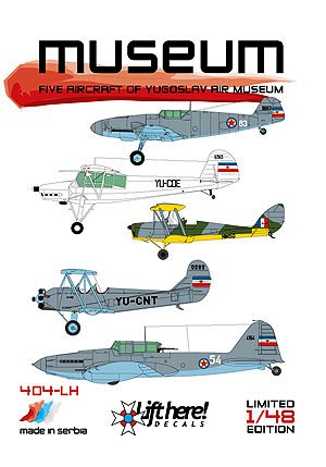 "404-LH ""Museum"", 5 Aircraft of Yugoslav Air Museum, 1/48"